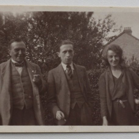 Rhys Davies with unidentified friends at Much Hadham, July 1931. If anyone has any information on the unidentified people, we would be pleased to hear from you. : Image 6