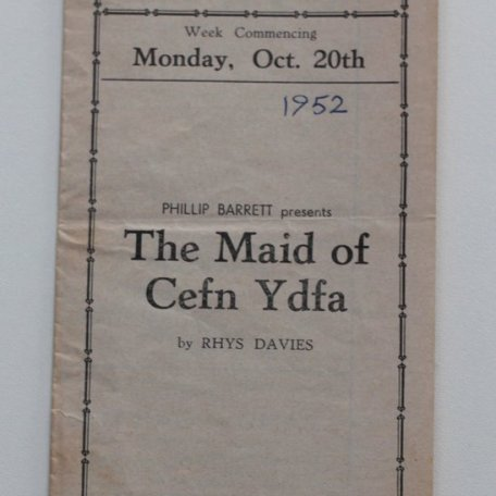 The Maid of Cefn Ydfa programme: Image 2