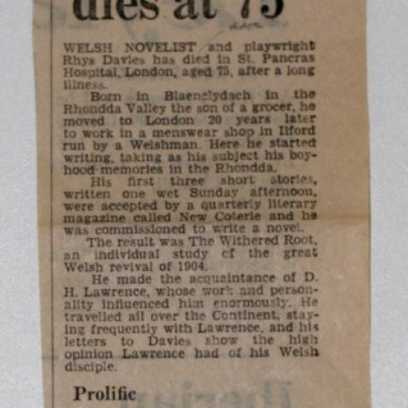 RD dies at 75, short notice in Western Mail 24 August 1978: Image 1
